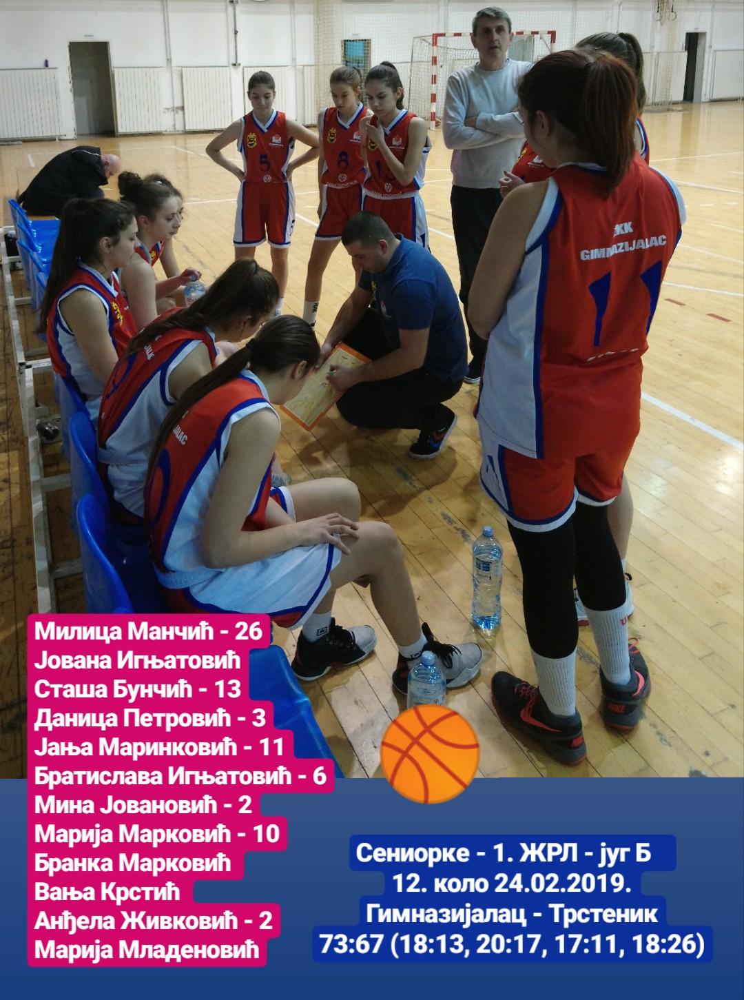 Photo of Košarkašice savladale ekipu Trstenika 73:67