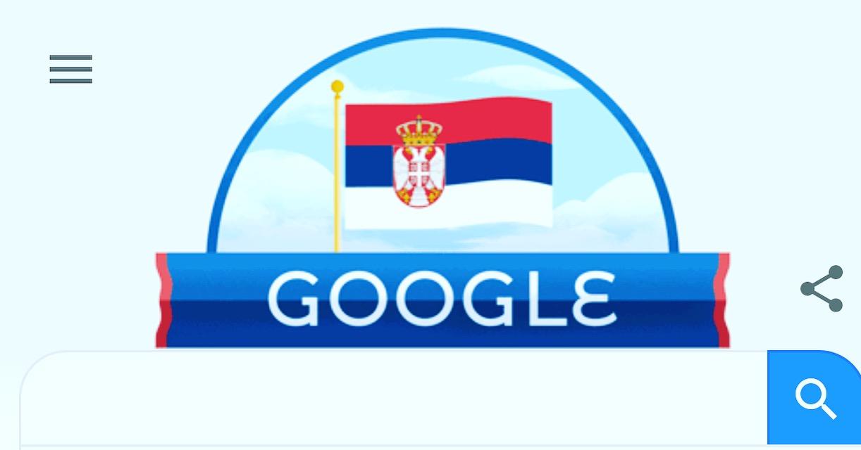 Photo of I Google čestitao Srbiji Dan državnosti isticanjem srpske trobojke