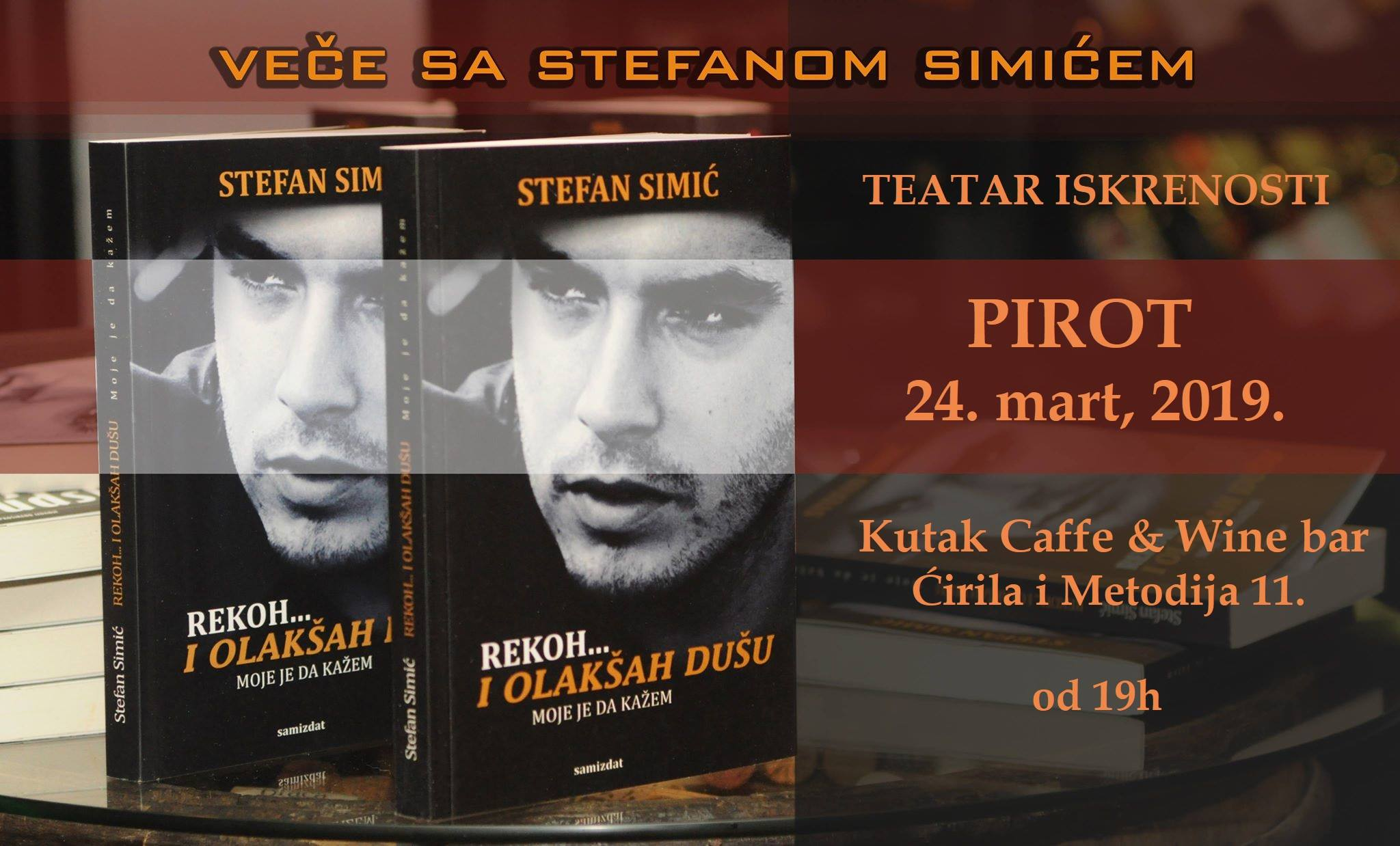 """Photo of Književno veče pisca Stefana Simića – """"Teatar iskrenosti"""""""