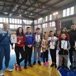 Zlato za Sofiju Jovičić, srebro za Minu Krstić. Osvojene i četiri bronze.