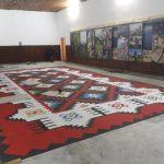 Studenti renovirali Dom kulture u Dojkincima. Ogromni ćilim naslikan na podu