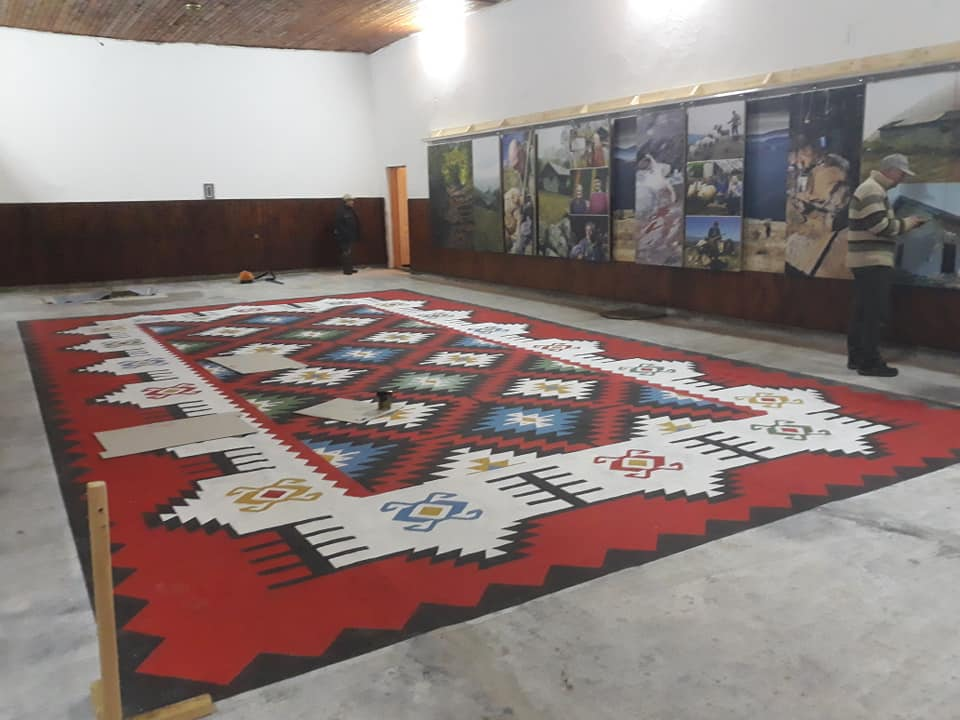 Photo of Studenti renovirali Dom kulture u Dojkincima. Ogromni ćilim naslikan na podu