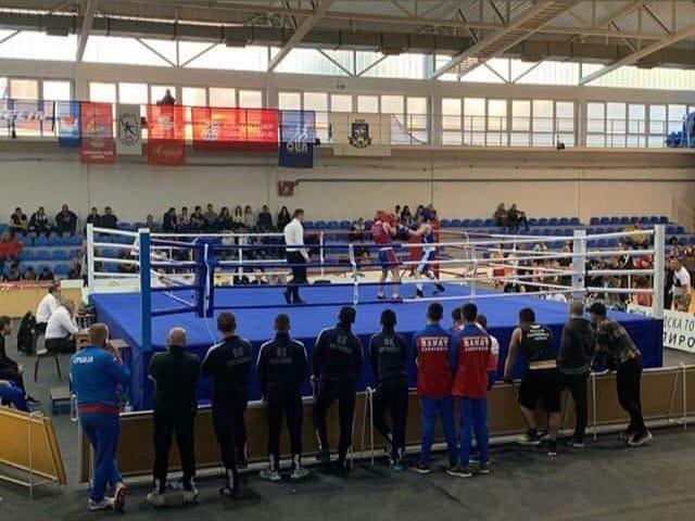 Photo of Saša Nikolić danas na Državnom prvenstvu u boksu u Pirotu