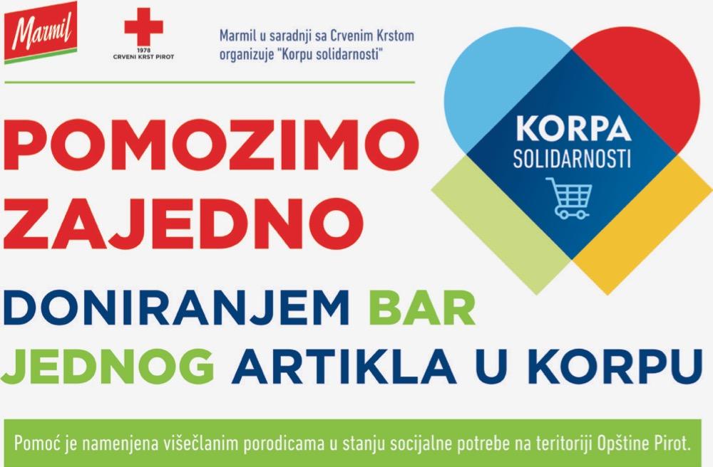 """Photo of """"Korpa solidarnosti""""  – humanitarna akcija kompanije Marmil za pomoć višečlanim porodicama u stanju socijalne potrebe"""