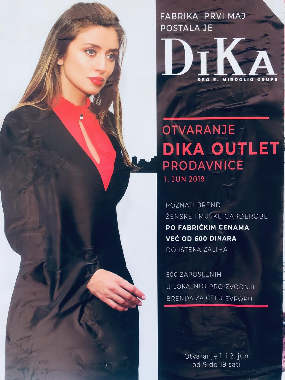 Photo of Evropska robna marka DiKa u Pirotu. Otvaranje prodavnice 1. juna