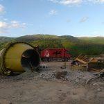Zavojsko jezero:Srušena fabrika betona