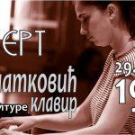 Koncertna sezona Doma kulture: Nastupa Teodora Zlatković (klavir)