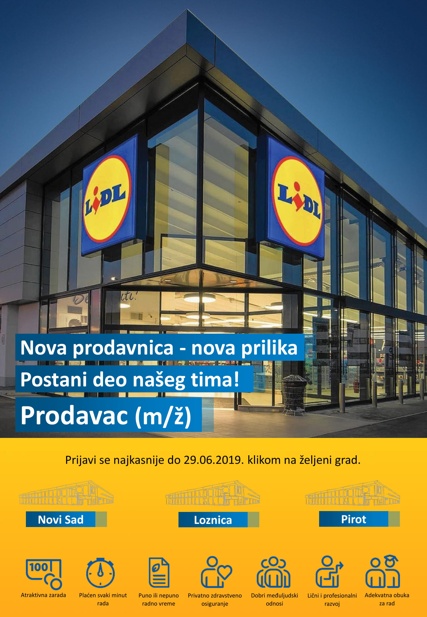Photo of Lidl: Otvoren konkurs za prodavce