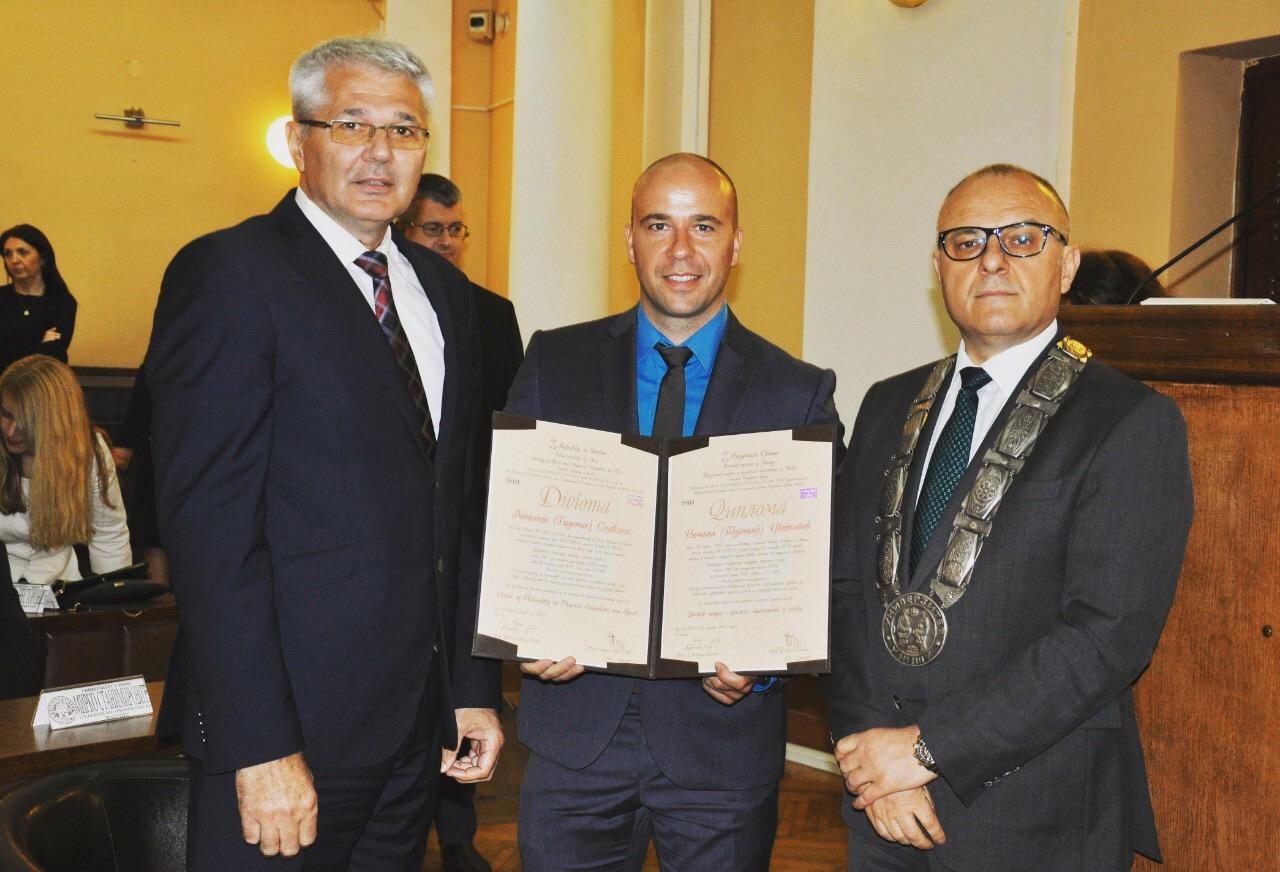 Photo of Piroćanac Nemanja Cvetković promovisan u doktora nauka