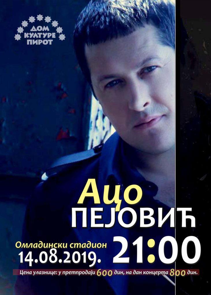 Photo of Aco Pejović 14. avgusta u Pirotu, ogromno interesovanje za koncert