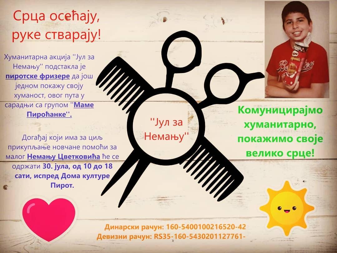 Photo of Pirotski frizeri i Mame Piroćanke organizuju humanitarnu akciju za pomoć Nemanji Cvetkoviću