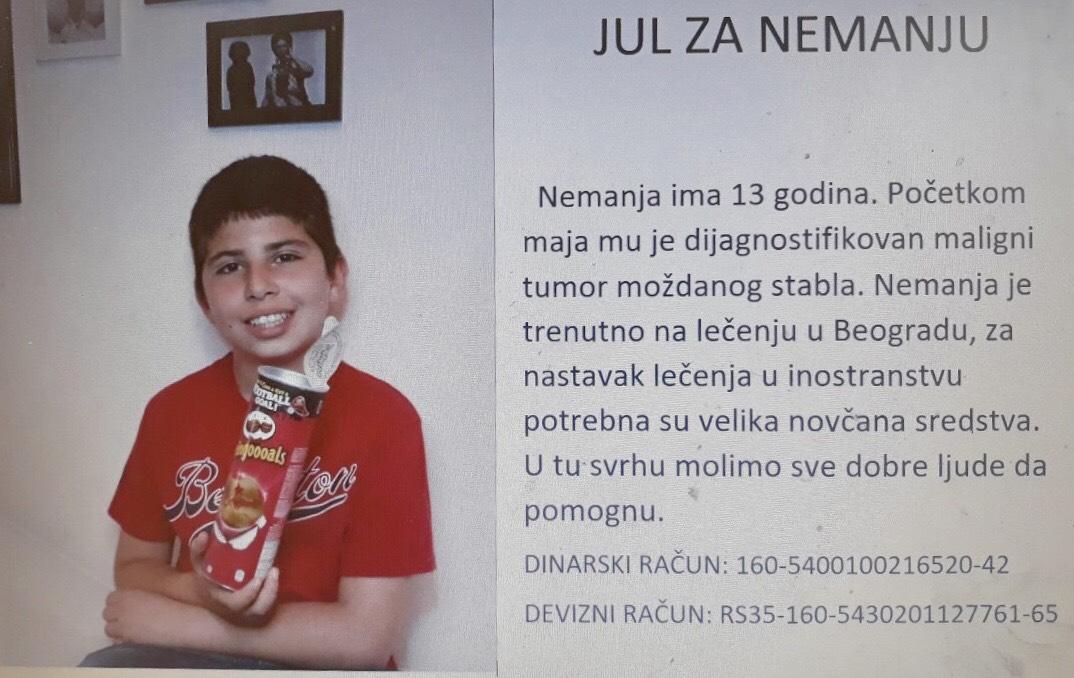 Photo of HITNO POTREBNA POMOĆ – Našem malom sugrađaninu Nemanji Cvetkoviću neophodna pomoć humanih ljudi