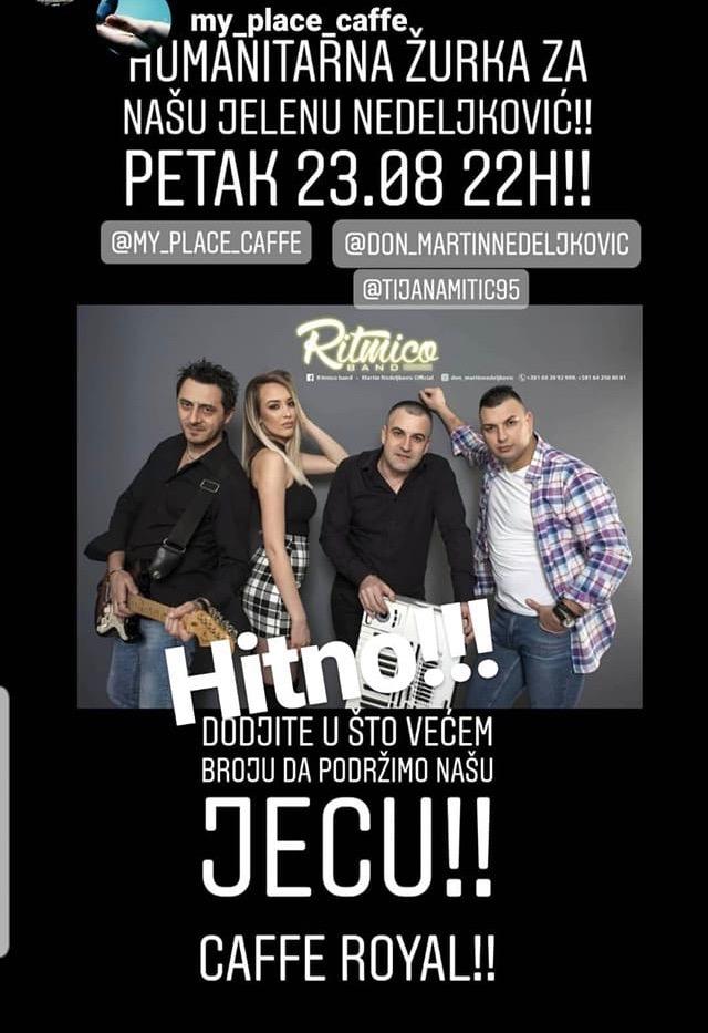 """Photo of HITNO potrebna pomoć našoj sugrađanki Jeleni Nedeljković. Humanitarna žurka u petak a u subotu akcija članica fejsbuk grupe """"Mame Piroćanke"""""""