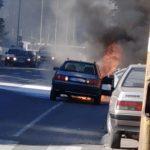 Požar u Ulici Nikole Pašića: Goreo automobil (VIDEO)
