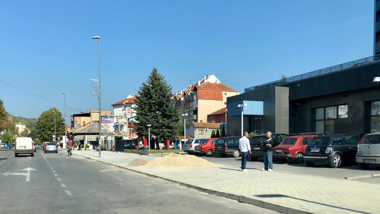 Photo of Završava se trotoar u ulici Srpskih vladara.