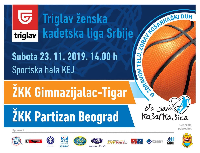 Photo of Kadetkinje Gimnazijalca dočekuju beogradski Partizan. Utakmica se igra u subotu od 14 sati