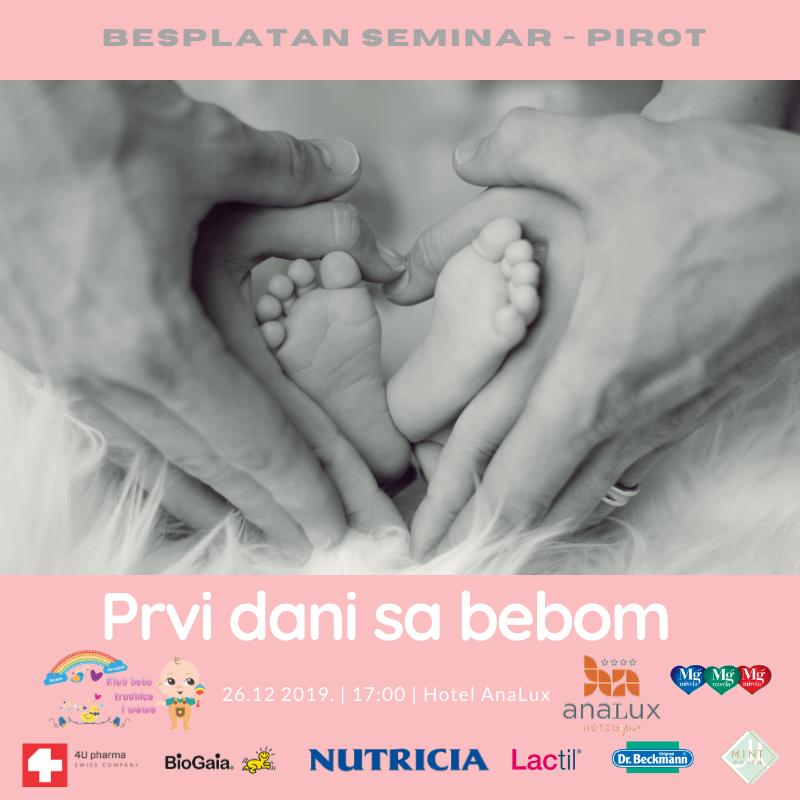 """Photo of """"Prvi dani sa bebom"""" – besplatni seminar za majke i trudnice u Pirotu"""