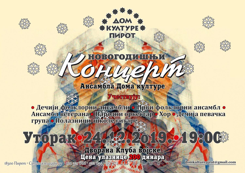 """Photo of Novogodišnji koncert pirotskih folkloraca – """"Prošeta se Jovka Kumanovka"""". Nastupa 260 folkloraca"""