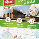 JEFTINIJI OD OSTALIH: Veliko otvaranje novog MARMIL supermarketa KOLONIJAL - 25. decembra u podne