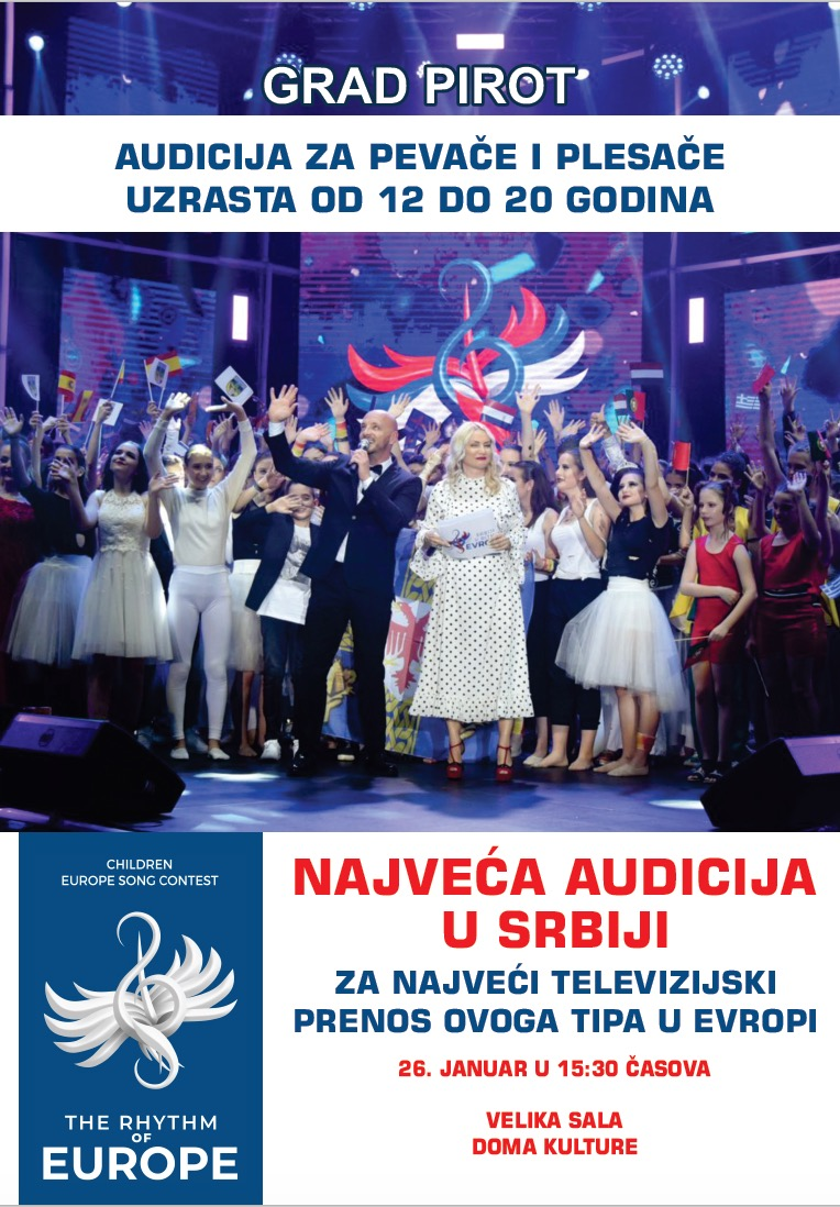 "Photo of Grad Pirot deo programa ""Srbija u ritmu Evrope"""