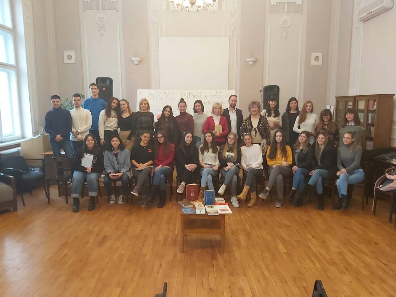Photo of Učenici i profesori Gimazije obeležili Nacionalni dan knjige