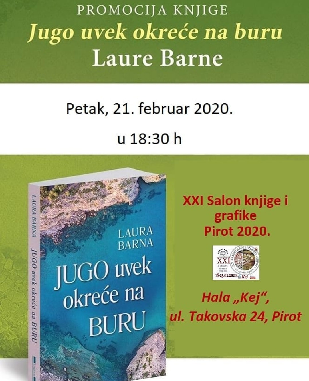 Photo of Laura Barna večeras od 18:30 h na Salonu knjige