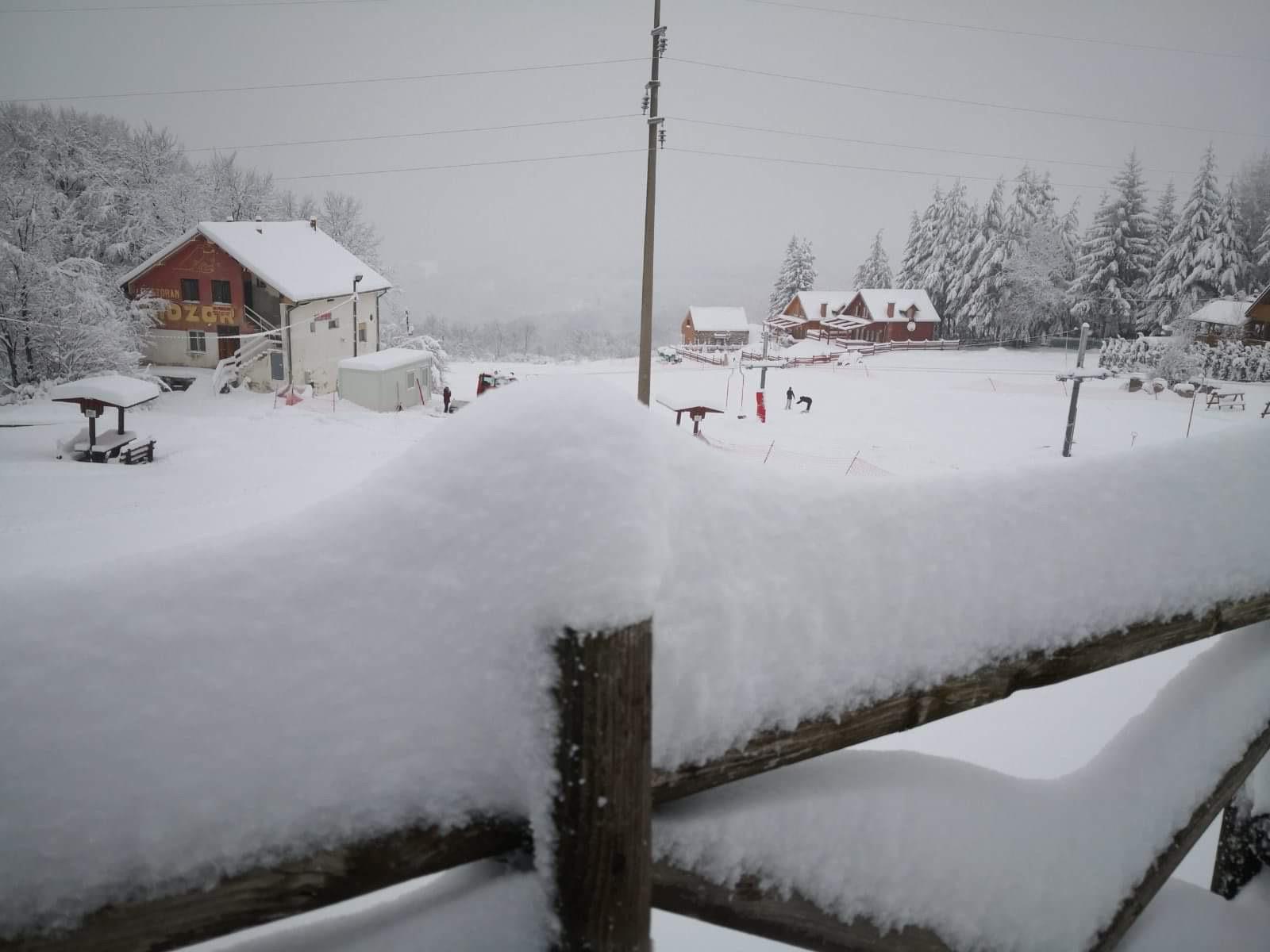 Photo of Smetovi i na putu ka Planinarskom domu. Otkazane škole skijanja za danas.