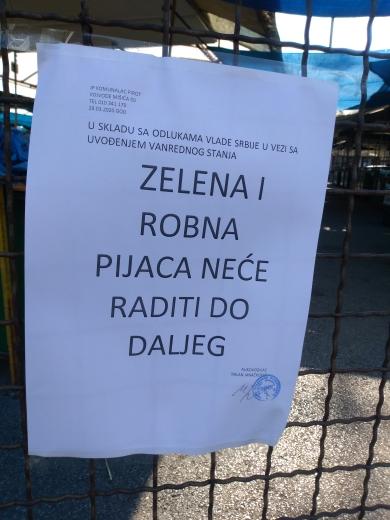 Photo of Piroćanci postupili po odlukama Vlade Srbije:Pijaca ne radi