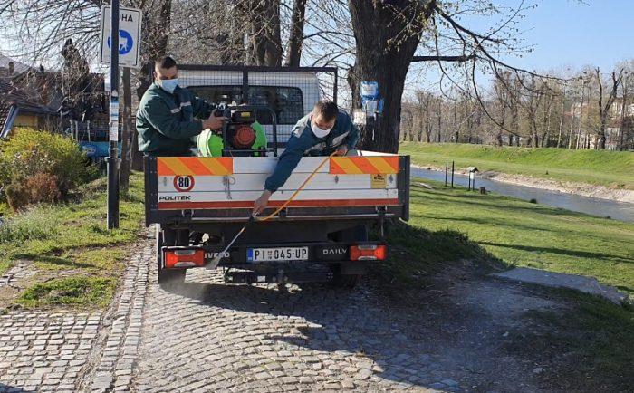 Photo of Komunalac dezinfikovao Kej pored Nišave, najfrekventnije trotoare, šetališta…(VIDEO)