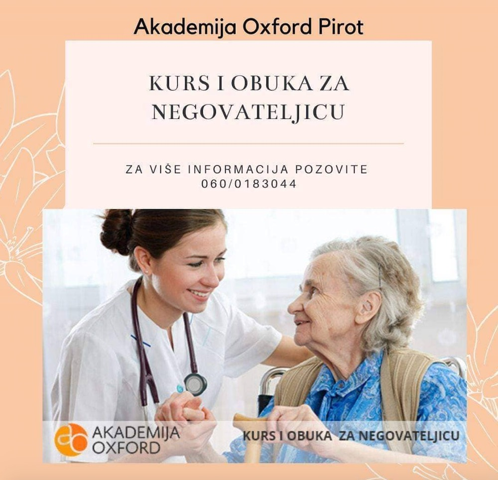 Photo of Akademija Oxford u Pirotu: Kursevi za negovatejlice sve traženiji