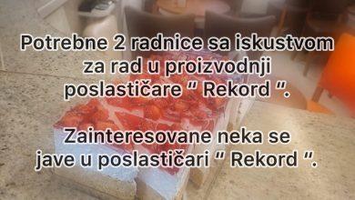 """Photo of POSAO! Potrebne dve radnice sa iskustvom za rad u proizvodnji poslastičare """"Rekord"""""""