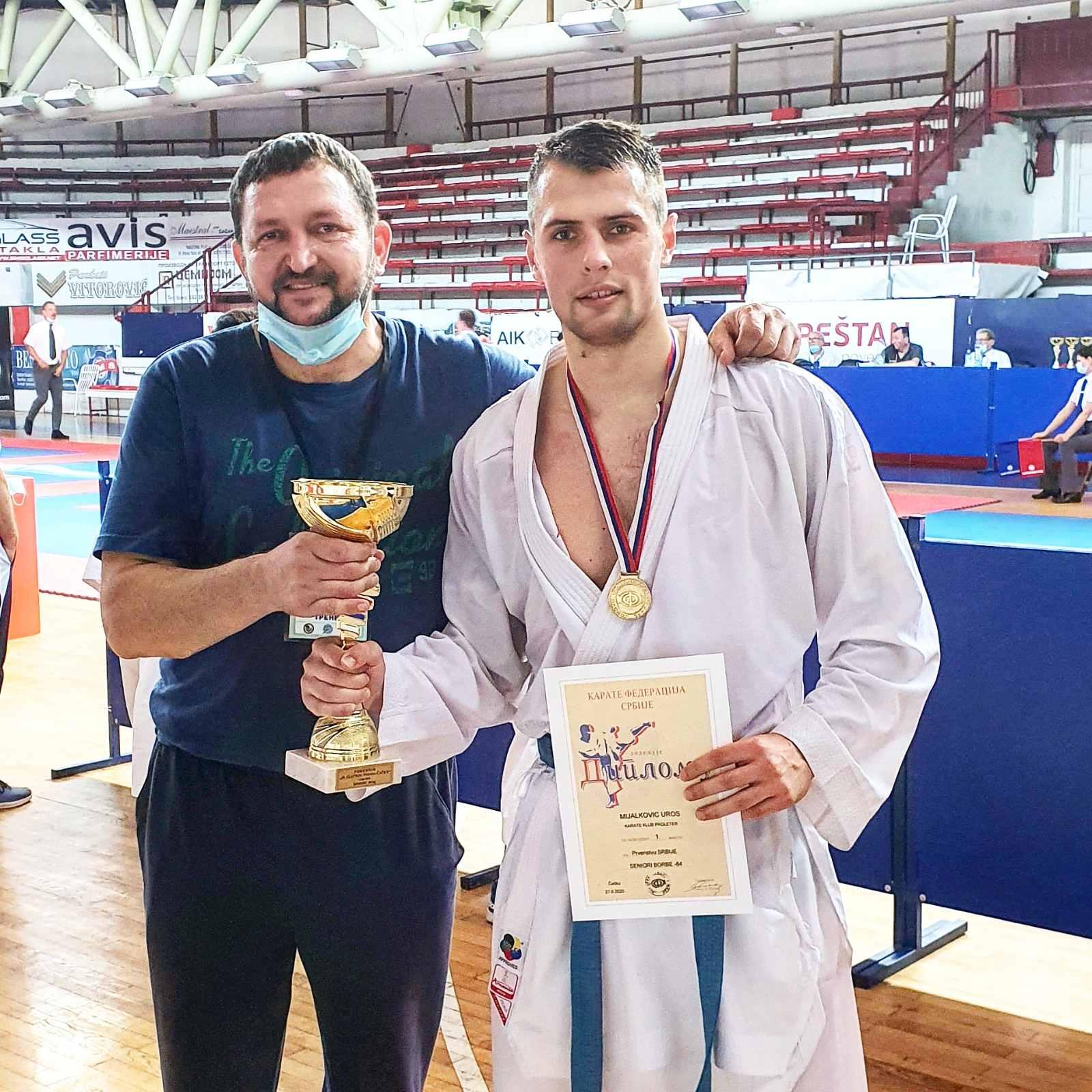 uroš mijalković prvak Srbije u karateu po četvrti put