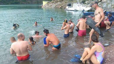 Photo of Zavojsko jezero: Takmičenje u plivanju perajima