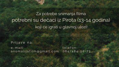 Photo of Snima se film na pirotskom govoru, diplomski rad mladog Piroćanca Nikole Aleksića. Potrebni dečaci uzrasta od 13 do 14 godina koji će se pojaviti u glavnim ulogama