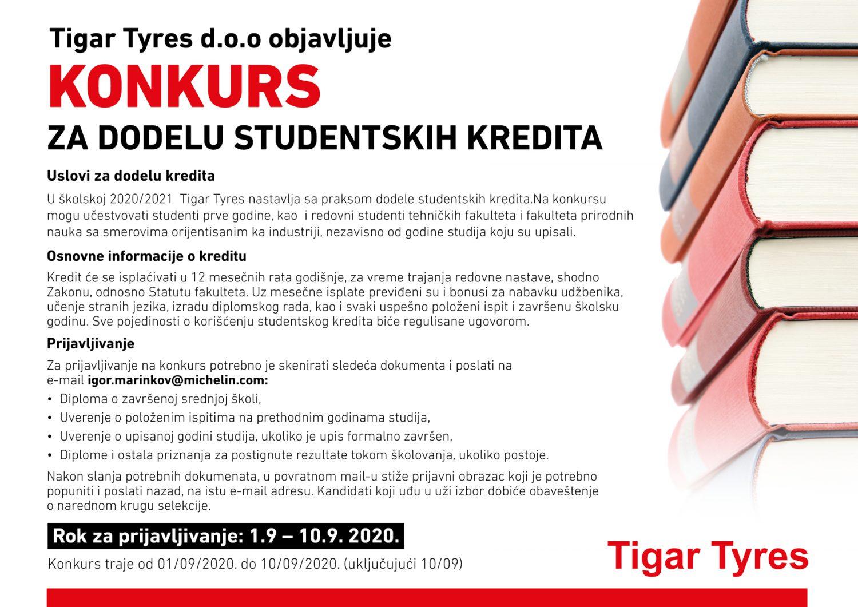 studentski krediti tigar tyres
