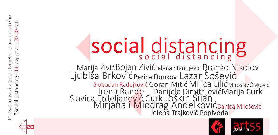 grupna izlozba social distancing