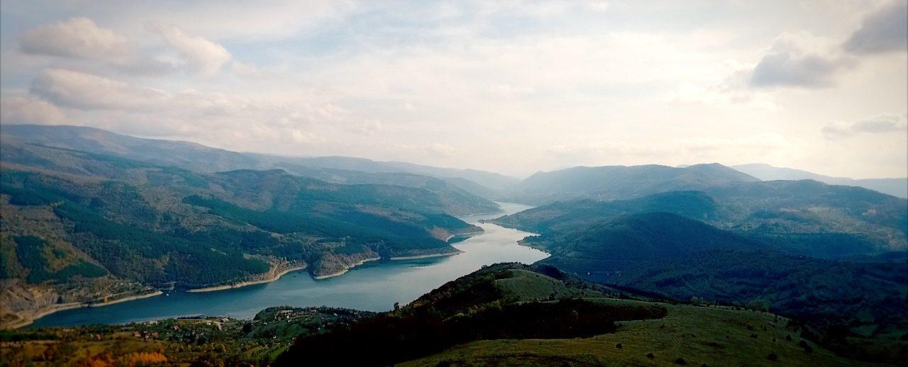 zavojsko jezero, pogled sa vidikovca Smilovica
