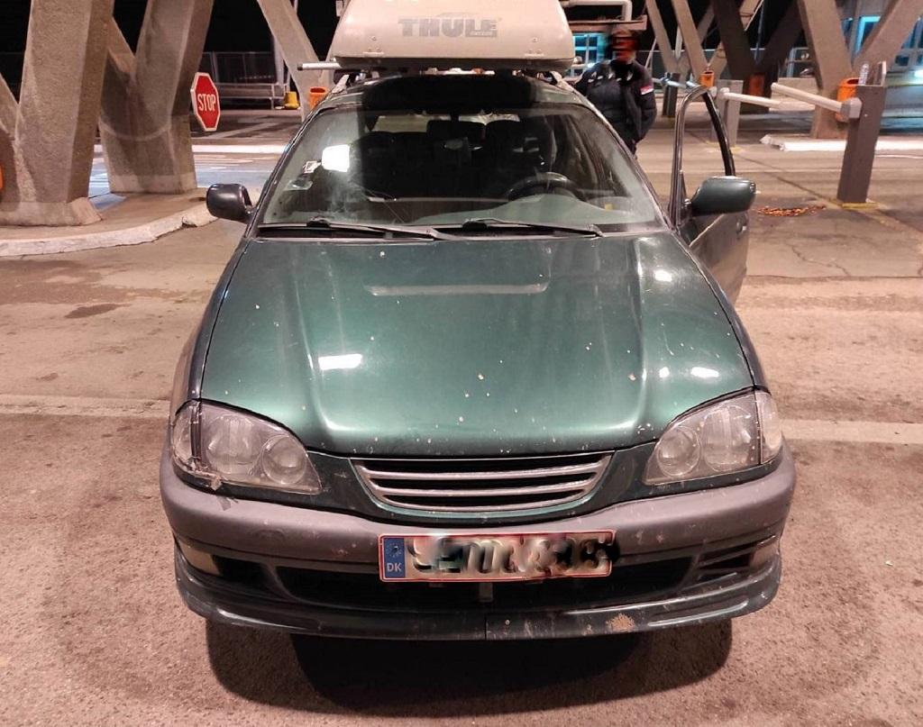 automobil u kome je pronadjena krijjumčarena devojka na Gradini