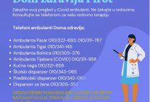 Photo of COVID19: Brojevi telefona na koje se trebate javiti i konsultovati pre dolaska kod lekara