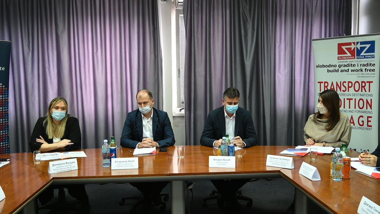 Slobodna zona pirot, poseta delegacije Ministarstva finansija