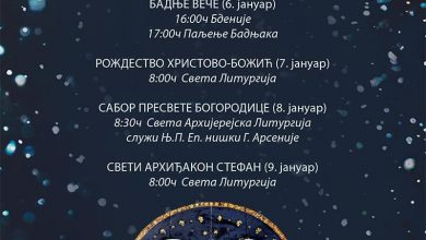 Photo of Raspored bogosluženja za božićne praznike u Pazarskoj crkvi