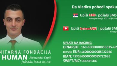 Photo of POTREBNA POMOĆ: Humanitarna fondacija BUDI HUMAN Aleksandar Šapić  prikuplja novčana sredstva za našeg sugrađanina Vladicu Veselinovića (1990)