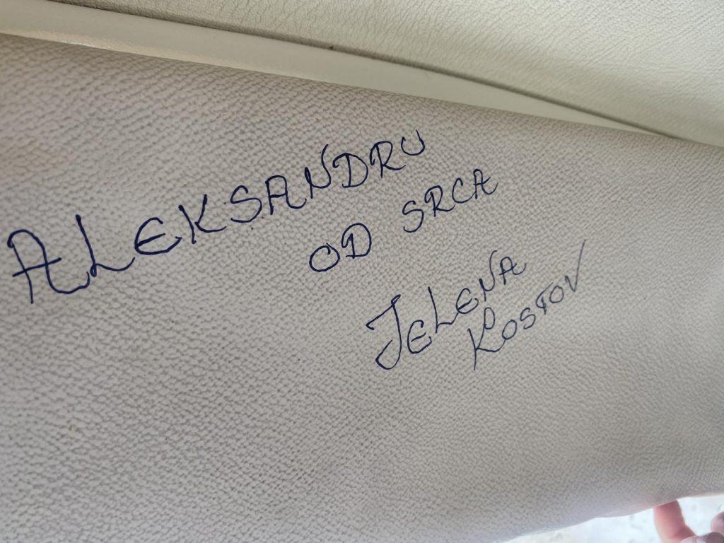 autogram Jelene Kostov
