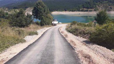"""Photo of Asfaltiran prilaz prema Kampu """"Buljarice"""" na Zavojskom jezeru"""