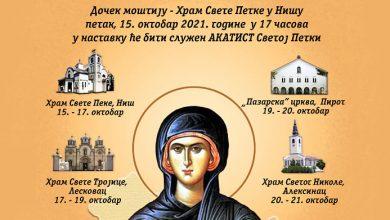 Photo of Mošti Svete Petke biće izložene u Pazarskoj crkvi u Pirotu 19. i 20. oktobra